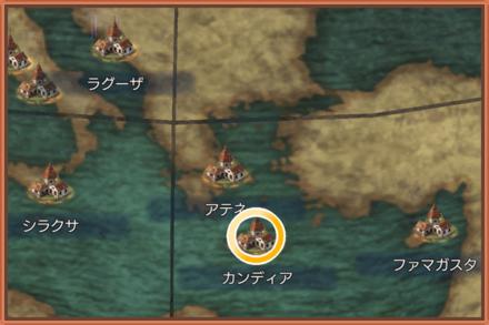 カンディアのマップ画像