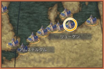 リューゲンのマップ画像