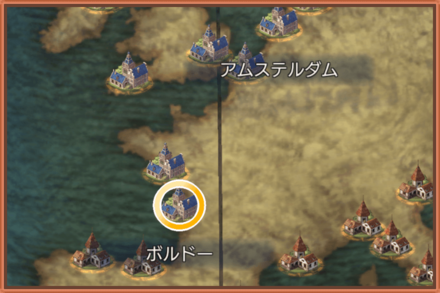 ボルドーのマップ画像