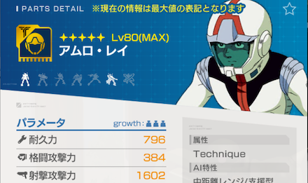 パイロットは☆4の射撃攻撃力の高い人がおすすめ
