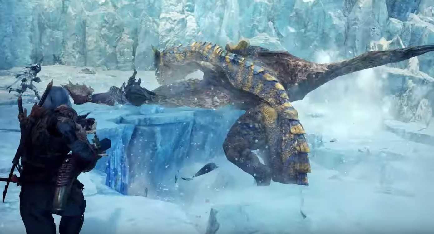 崩れる氷の足場