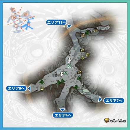 渡りの凍て地エリア9