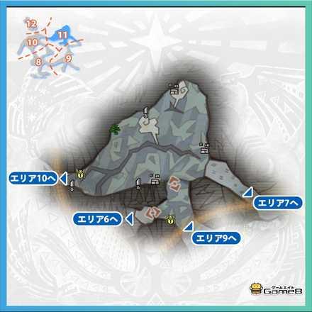 渡りの凍て地エリア11