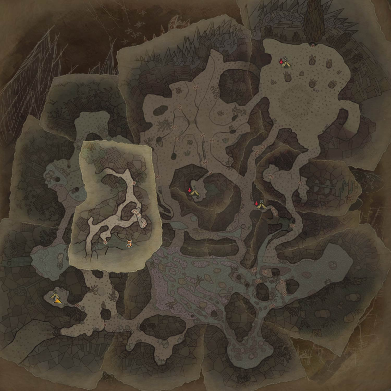 大蟻塚の荒地の3層の画像