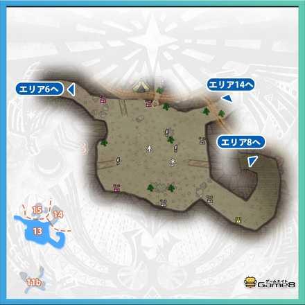 大蟻塚の荒地_マップ13