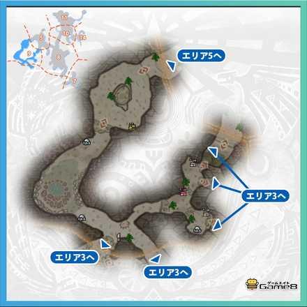 陸珊瑚の台地エリア9のマップ