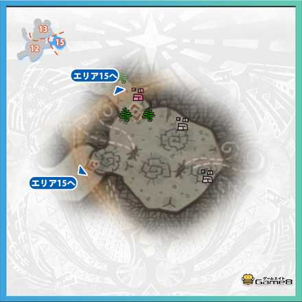 陸珊瑚の台地エリア15のマップ