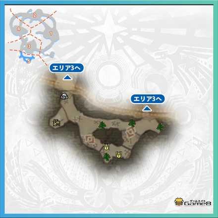 瘴気の谷エリア5のマップ