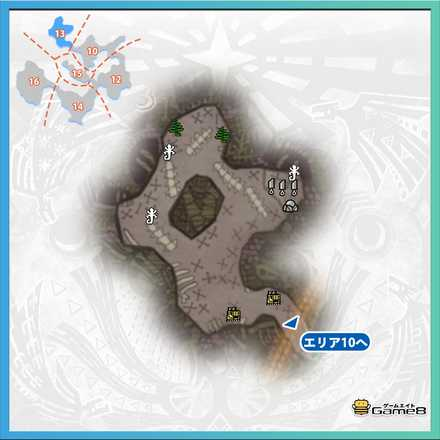 瘴気の谷エリア13のマップ