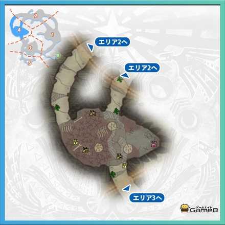 瘴気の谷エリア4のマップ