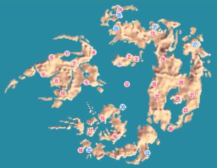 FF8ワールドマップの画像