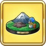 南側の富士山の置物