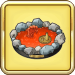 赤い温泉の置物