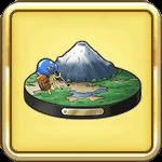 北側の富士山の置物