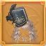 黒い羽の冠の画像