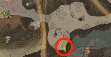 龍結晶の地のオタカラ2の場所