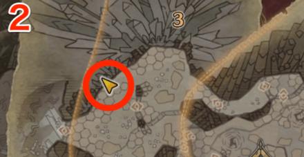 龍結晶の地オタカラ4の2つ目の場所