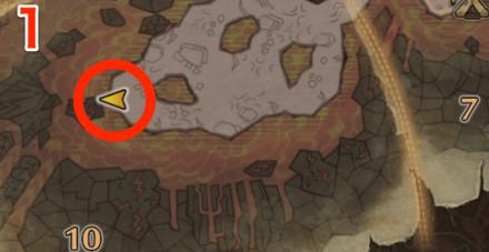 龍結晶の地オタカラ5の1つ目の場所