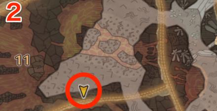龍結晶の地オタカラ5の2つ目の場所