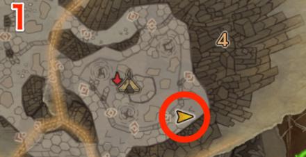 龍結晶の地オタカラ6の1つ目の場所