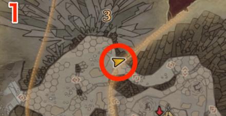 龍結晶の地オタカラ7の1つ目の場所