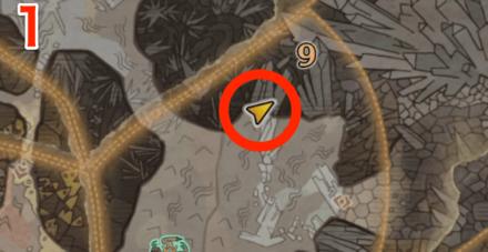 龍結晶の地オタカラ8の1つ目の場所