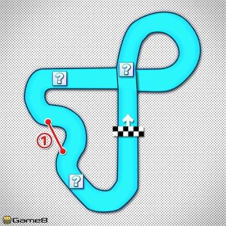 3DSキノピオサーキットのショートカットマップ
