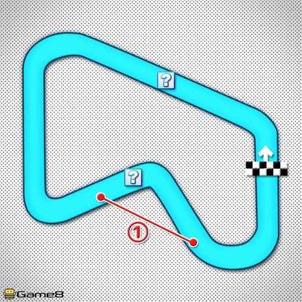 SFCマリオサーキット1のショートカットマップ
