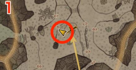 大蟻塚の荒地オタカラ10の1つ目の場所