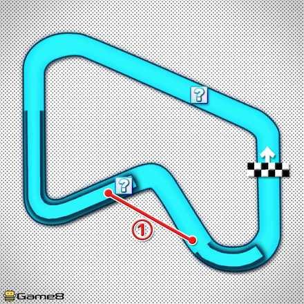 SFCマリオサーキット1Xのショートカットマップ