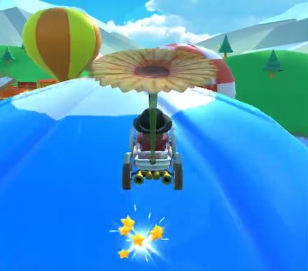 気球でジャンプアクション