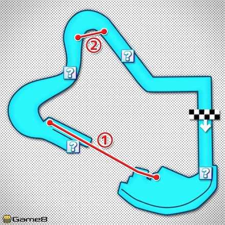 3DSデイジーヒルズRのショートカットマップ