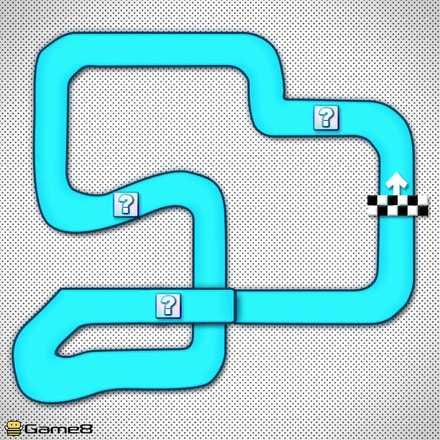 SFCマリオサーキット2Xのショートカットマップ