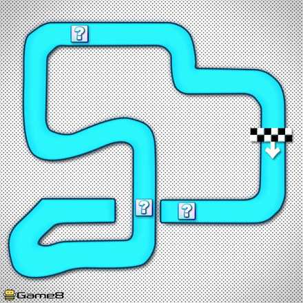 SFCマリオサーキット2Rのショートカットマップ