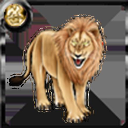 百獣の王ライオンのアイコン
