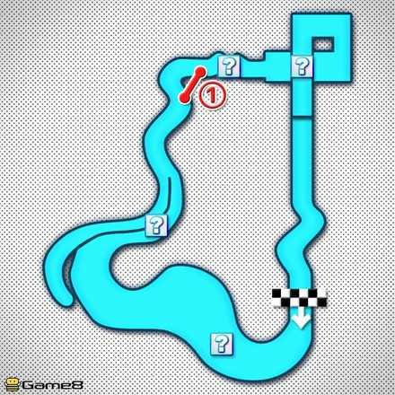 DSルイージマンションRのショートカットマップ