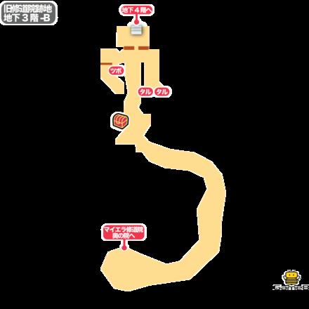 旧修道院跡地B3F-Bのマップ画像