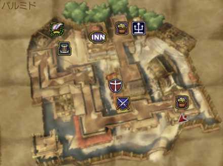 パルミドのマップ画像