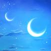 二つの月の画像