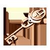 銅の鍵の画像
