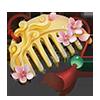 玉石の髪飾りの画像