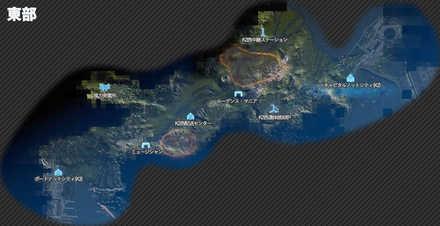 東部のマップ