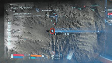 フレームアームズ玄武のマップ画像