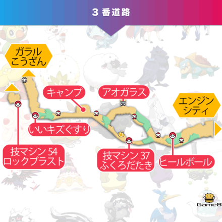 ポケモン剣盾の3番道路