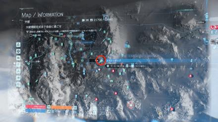 雪の結晶のマップ画像