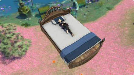 浮遊するベッドのマウント