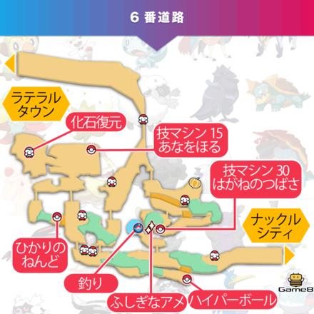 ポケモン剣盾の6番道路