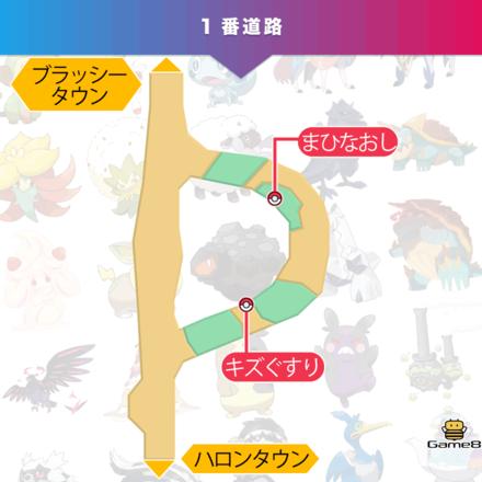 ポケモン剣盾の1番道路