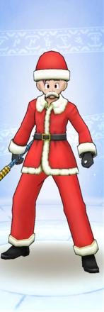 サンタ装備男