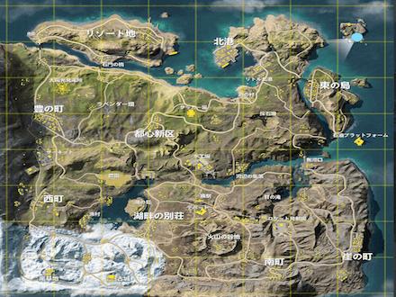 嵐の半島全体マップ